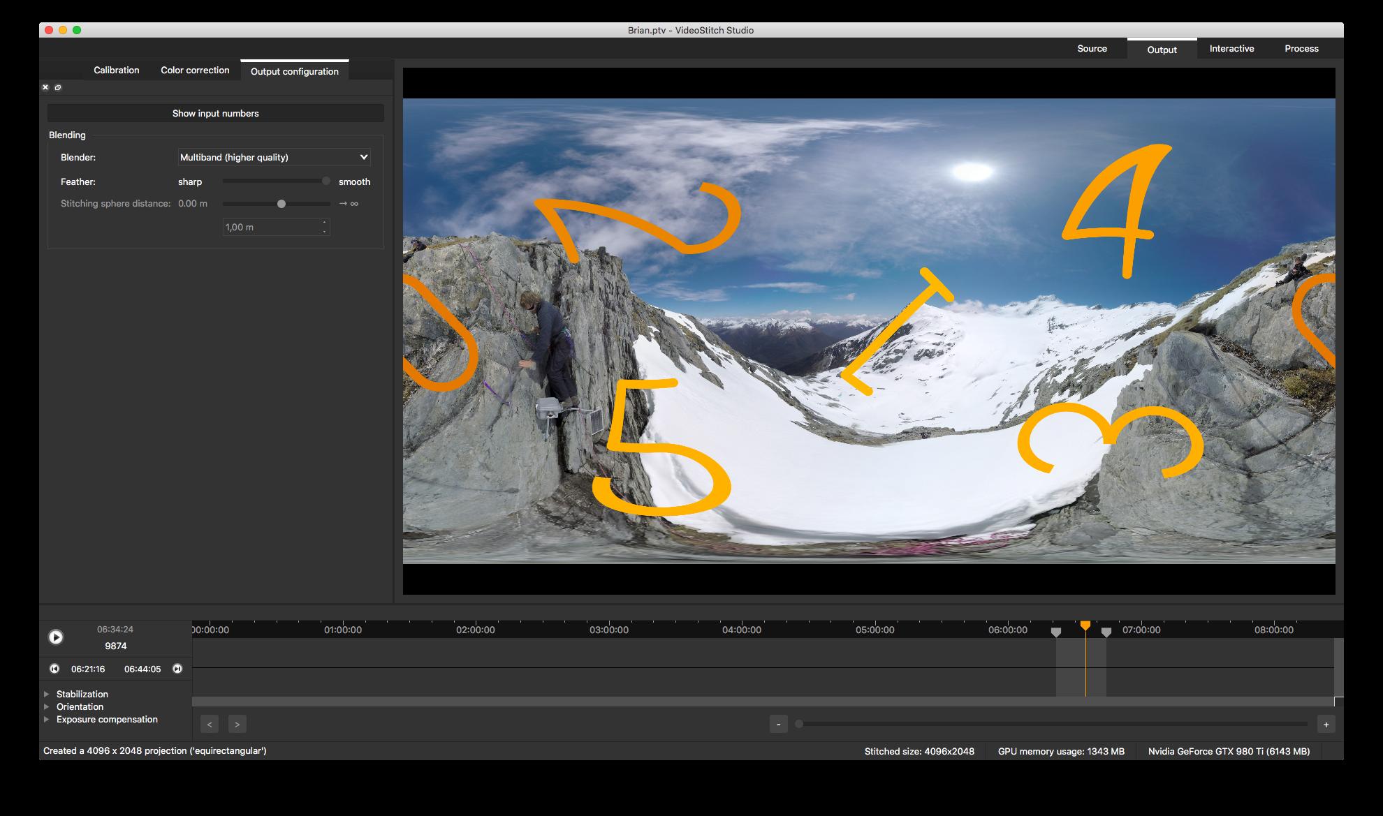 Screenshot VideoStitch Studio